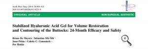 Efficacy and safety of stabilsed hyaluronic acid-based gel of non-animal origin